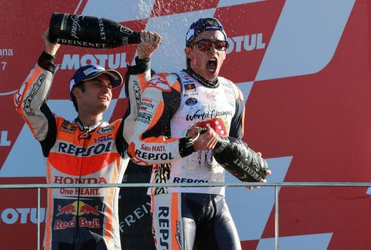 Marc_Marquez_Dani_Pedrosa_Podium_Valencia_MotoGP
