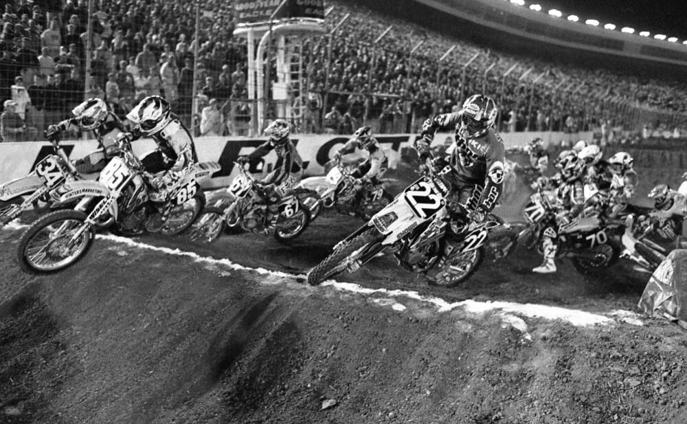 1997 Charlotte 125 East Supercross start