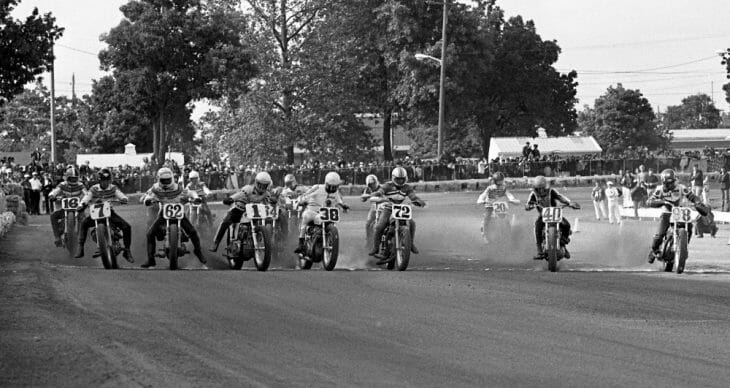 Mike Kidd wins his first AMA Grand National at the Charity Newsies in Columbus, Ohio, on June 23, 1974.