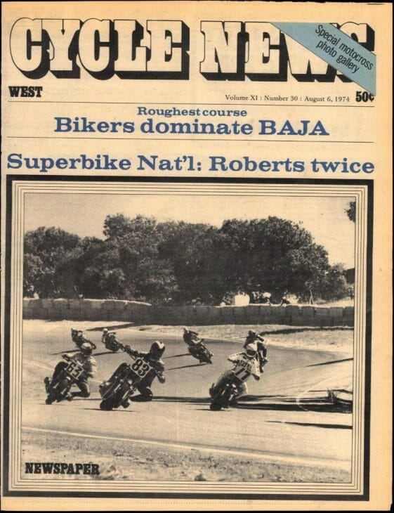 Production racing at Laguna Seca in 1974