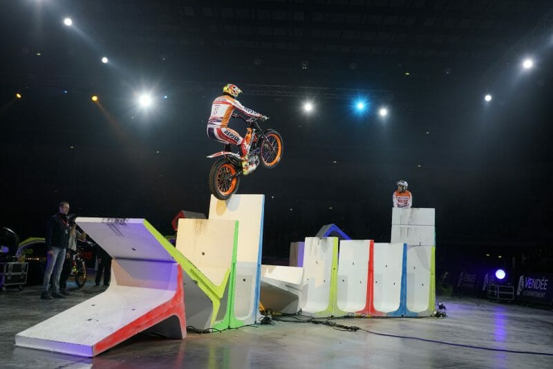 Toni Bou before the magic of the X-Trial of Toulouse