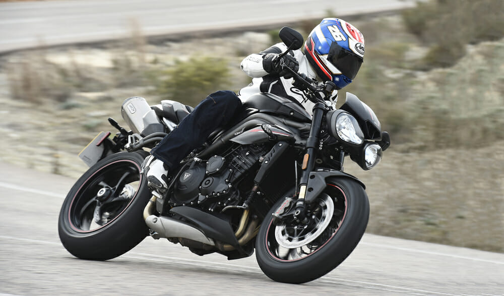2018 triumph speed triple first test cycle news. Black Bedroom Furniture Sets. Home Design Ideas