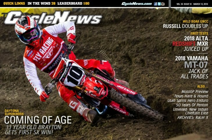 Cycle News Magazine #10: Daytona Supercross, Alta Redshift MXR & Yamaha MT-07 First Tests...