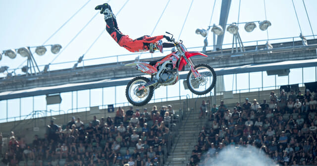 excitement builds as nitro world games competitors arrive in salt lake city cycle news. Black Bedroom Furniture Sets. Home Design Ideas