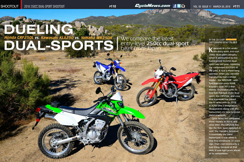 2018 250cc Dual-Sport Shootout - Cycle News