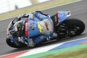 Alex Marquez was quickest in Moto2 on the opening day in Argentina.