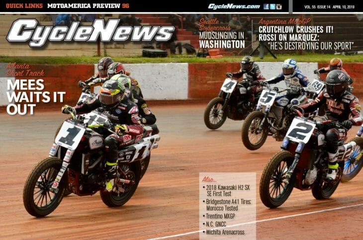 Cycle News Magazine #14: Atlanta Short Track, Argentina MotoGP, Kawasaki H2 SX SE First Test...