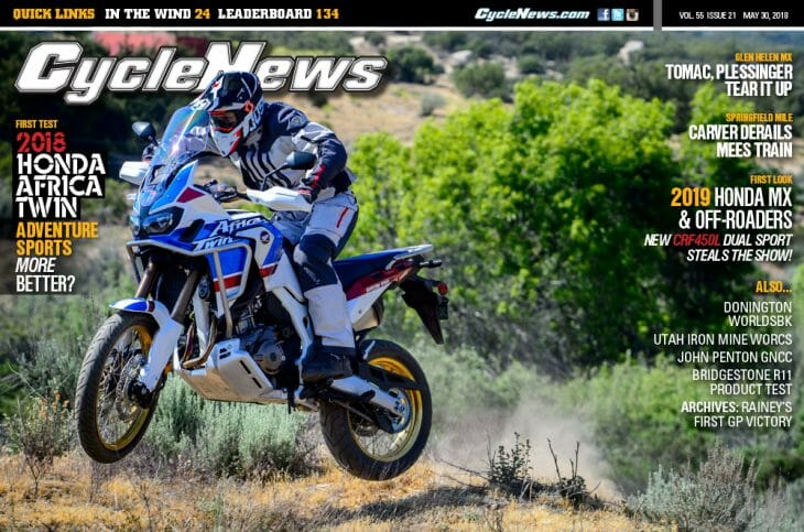 Cycle News Magazine #22: Africa Twin Sports First Test, Glen Helen MX, Springfield Mile...