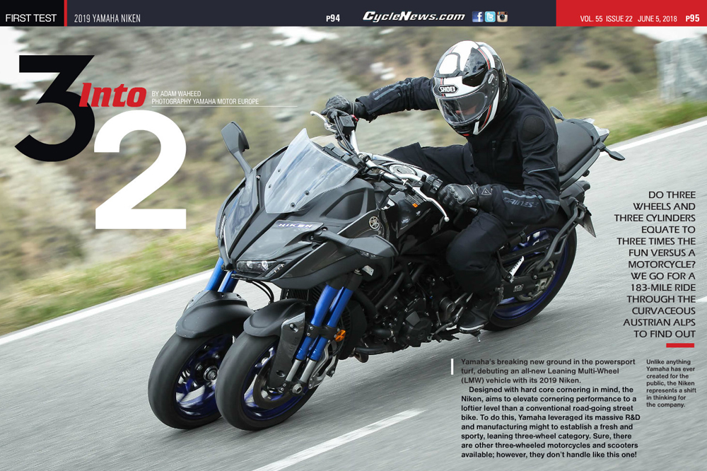 2019 Yamaha Niken First Test Cycle News