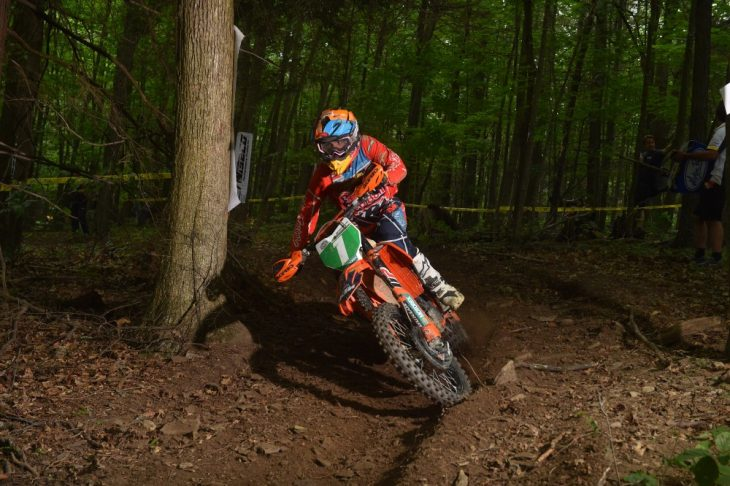 Toth on the gas for third place in GNCC