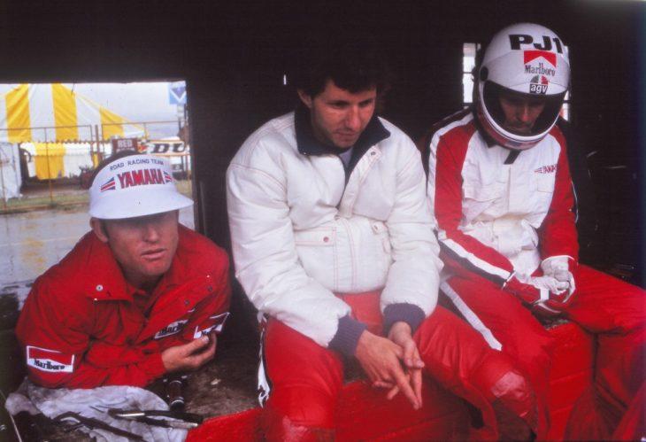 Kenny Roberts, Eddie Lawson and Wayne Rainey in 1984