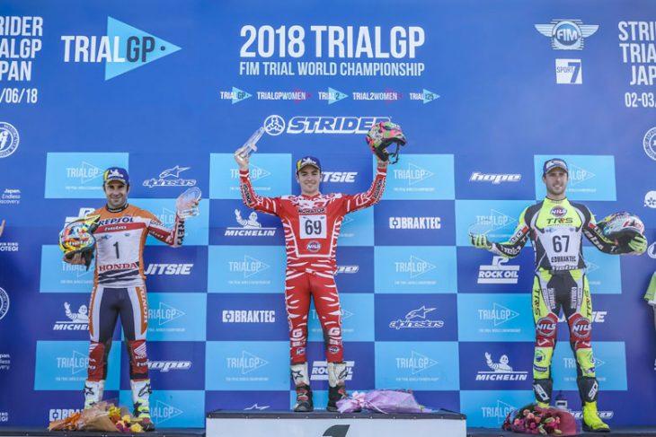 Trial GP Japan Podium