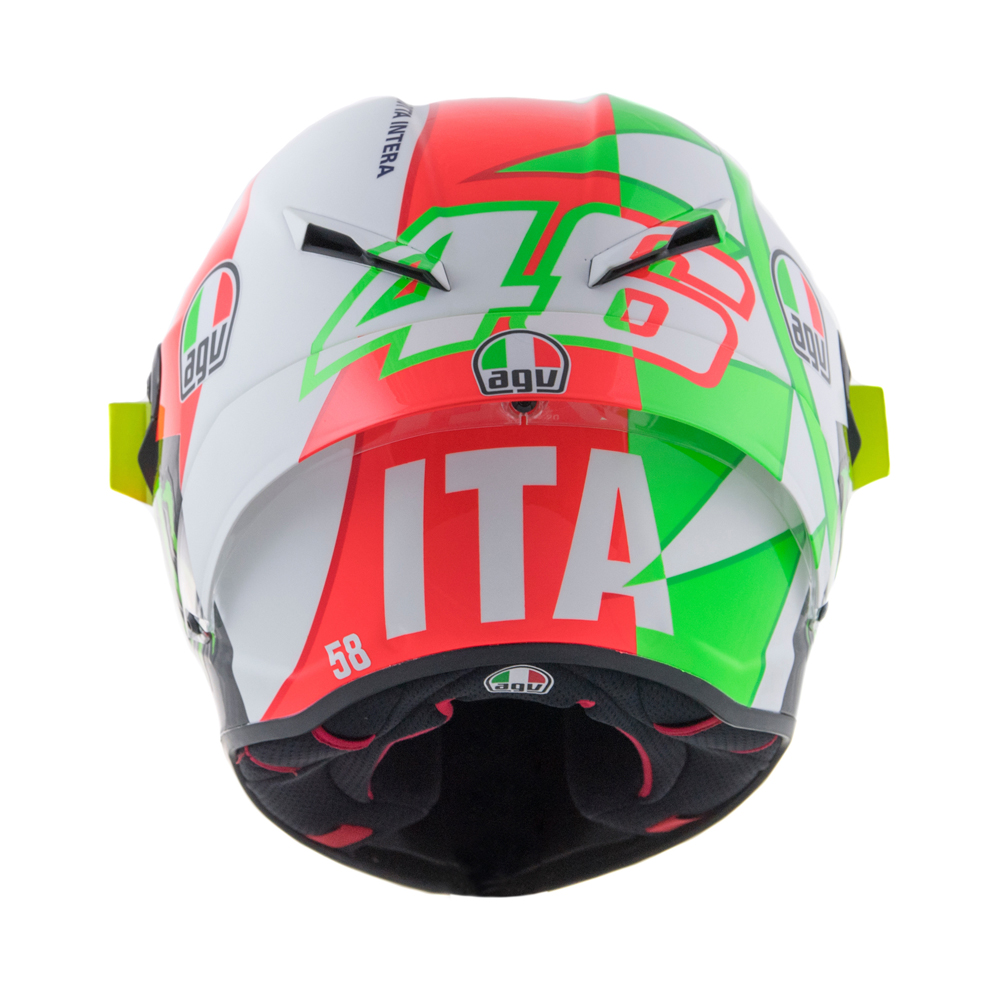 valentino rossi 39 s mugello tricolore agv helmet cycle news. Black Bedroom Furniture Sets. Home Design Ideas
