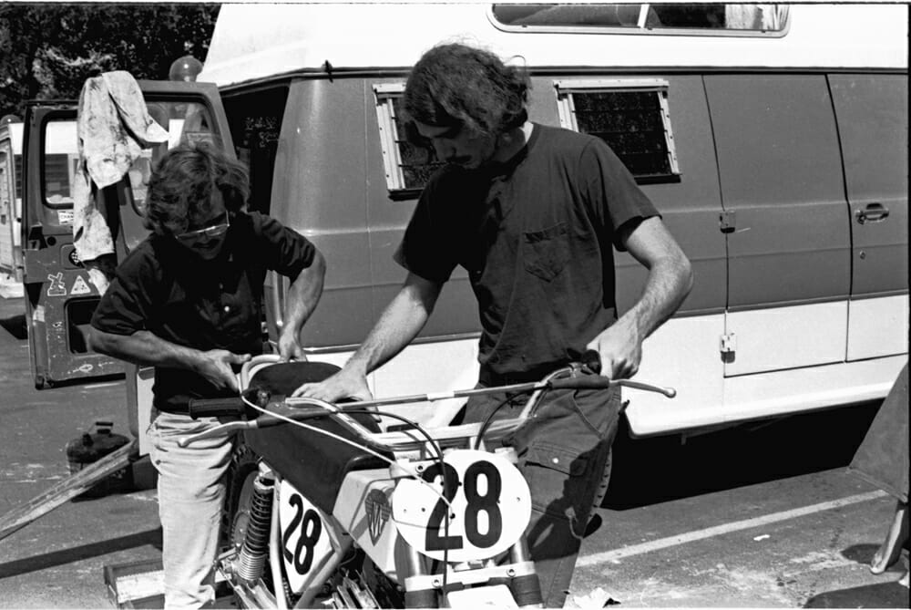 There was a good chance that Jim West was next in line to land a Maico factory ride.