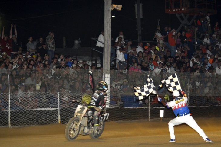 Jared Mees takes the win at the Lima Half Mile