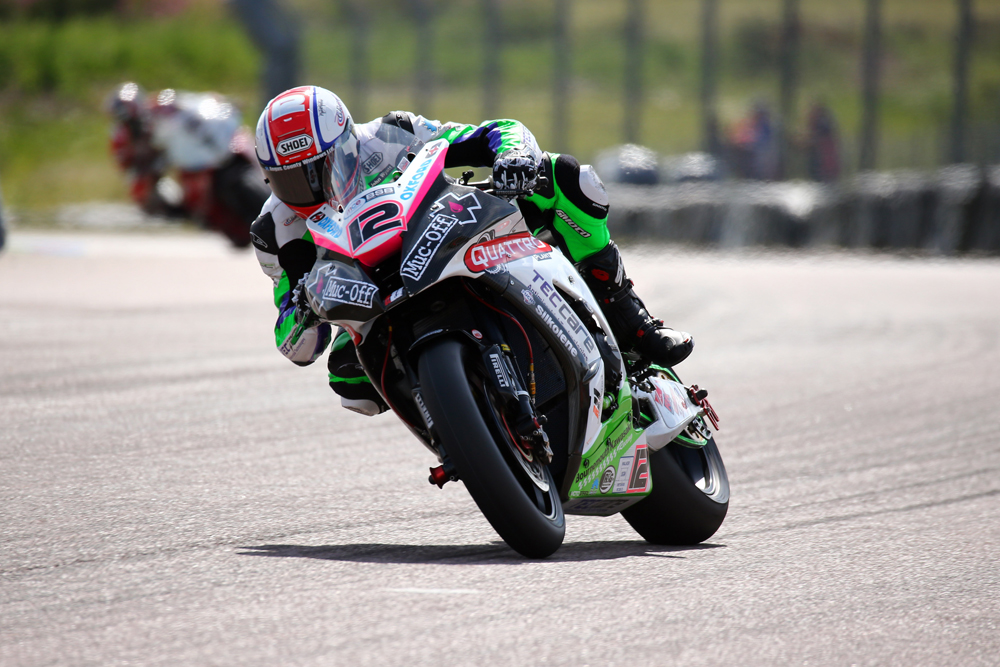 Luke Mossey (Quattro Plant Kawasaki) during the MCE British Superbikes Championship (BSB).
