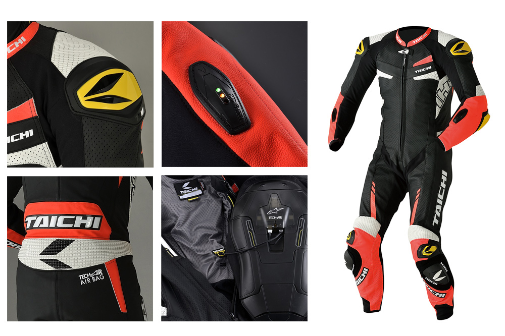 RS Taichi has released the Taichi GP-WRX R306 Race Suit that is compatible with the Alpinestars Tech-Air, Race Airbag system.