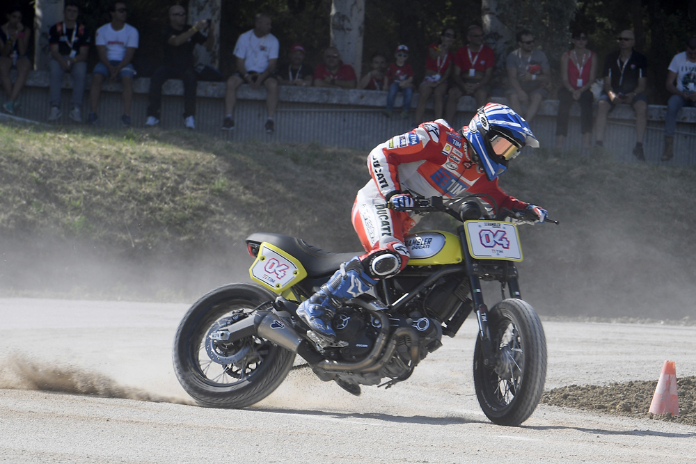 World Ducati Week 2016: Scrambler Flat Track Race with Andrea Dovizioso.