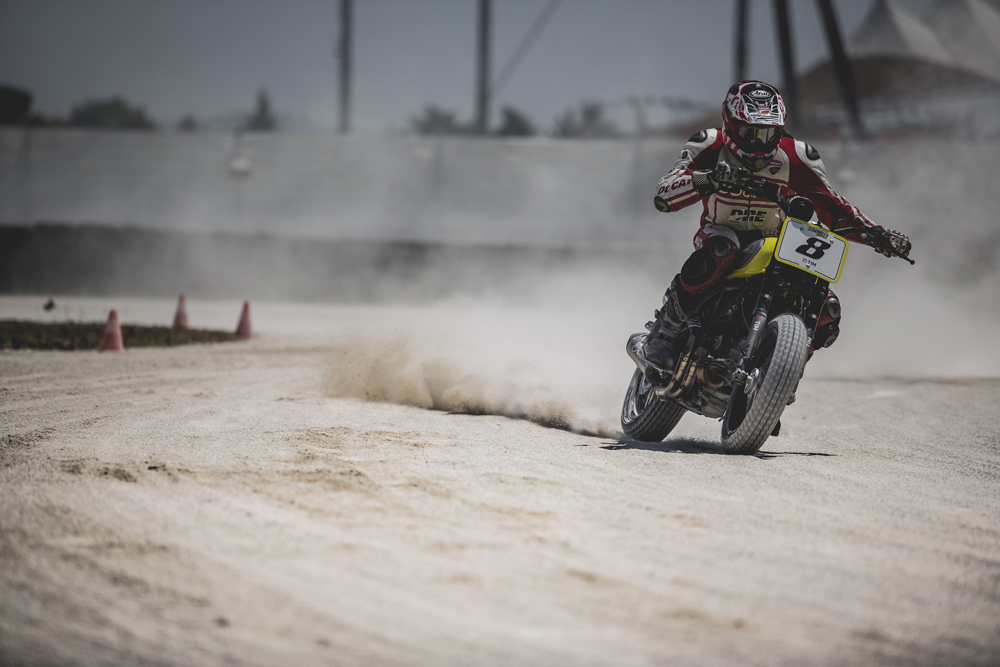 Participants can sign up for Ducati Flat Track School.