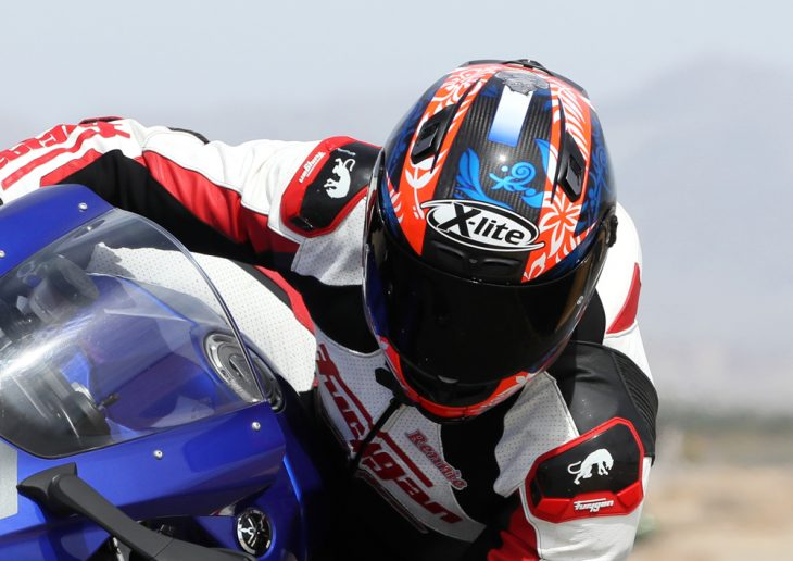 The Petrucci replica is an excellent track helmet, but might be a little extreme for road use.