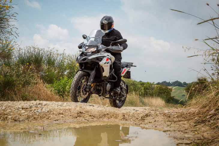 Substantial and spacious, the Benelli TRK 502X offers real world rideability and has genuine off-road potential along dirt roads and hillside tracks.