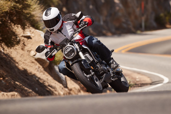 A single cylinder motor, cool styling and a great price—there's a reason the K.I.S principle works for Honda's CB300R.