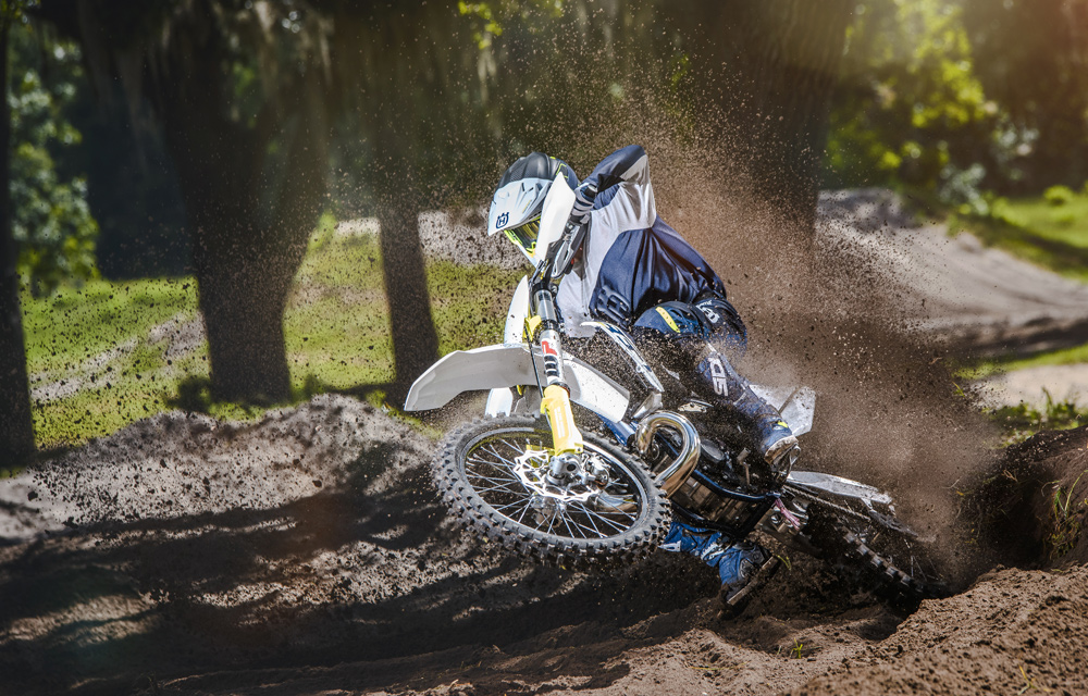 The TC 250 loves the loam with its snappy and powerful engine.