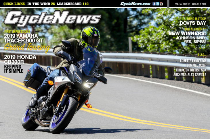 Cycle News magazine #31, August 7, 2018