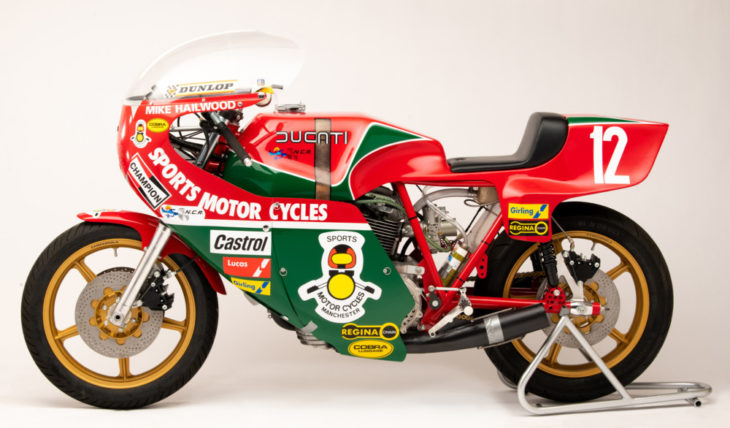 Vee Two Mike Hailwood Replica bike
