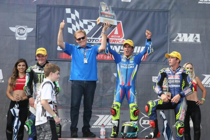 Yoshimura Suzuki - PittsburghR2 2018 podium