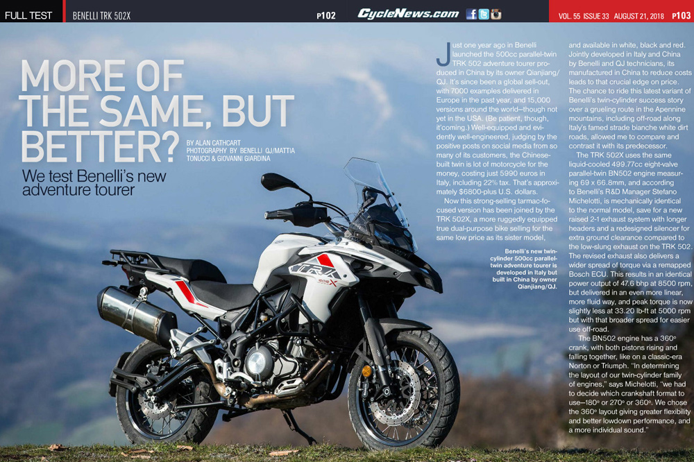 We test Benelli's new adventure tourer - Cycle News