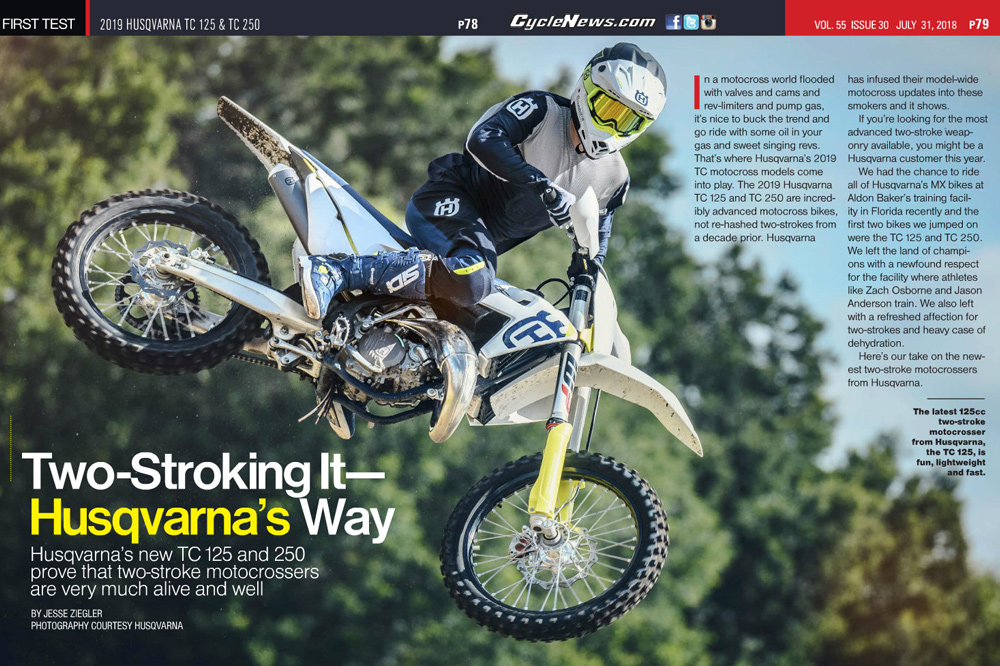 The TC 250 weighs just 211.6 pounds and it also rips.
