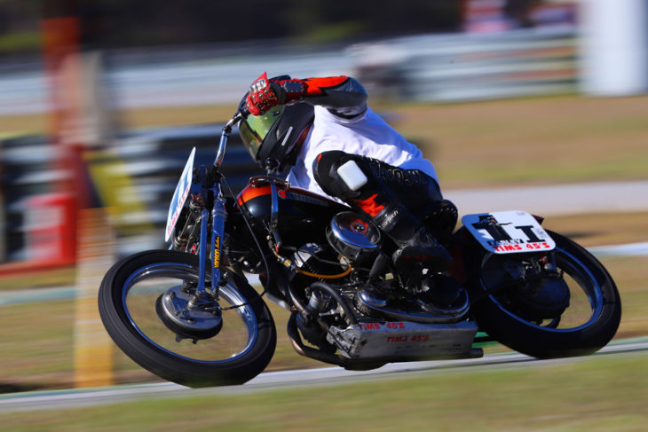 """Harley-Davidson rider David Bourbeau will be among the contenders at AHRMA's """"Shootout at the Barber Corral"""" at Barber Motorsports Park in October. Photo by etechphoto.com"""