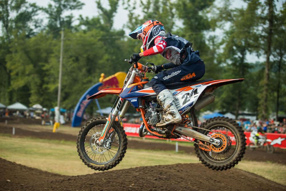 North Carolina's Daxton Bennick won all three motos in 85cc (9-11) Limited.