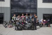 Moto2 Riders Visit Triumph Factory