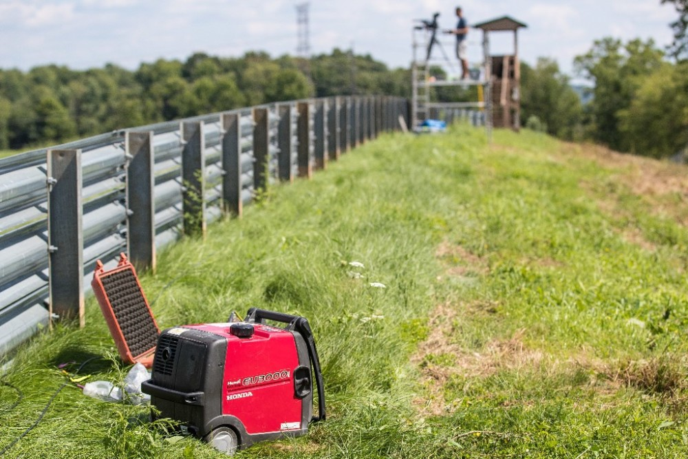 MotoAmerica uses Honda generators to bring portable power to where they need it at racetracks across the U.S..  Photo By Brian J. Nelson