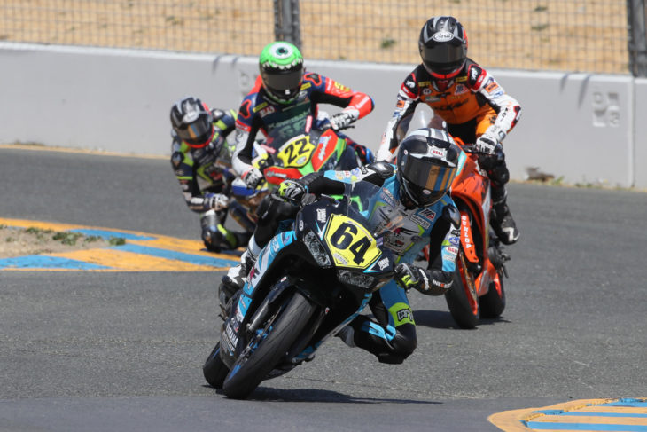 Race two at Sonoma was the first time a Yamaha won, marking the first time every competing manufacturer had taken a race win. It had been a long road up to this point.
