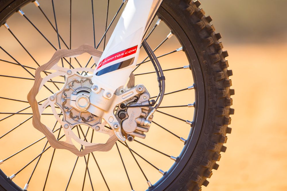The Beta is fitted with powerful Nissin brakes.