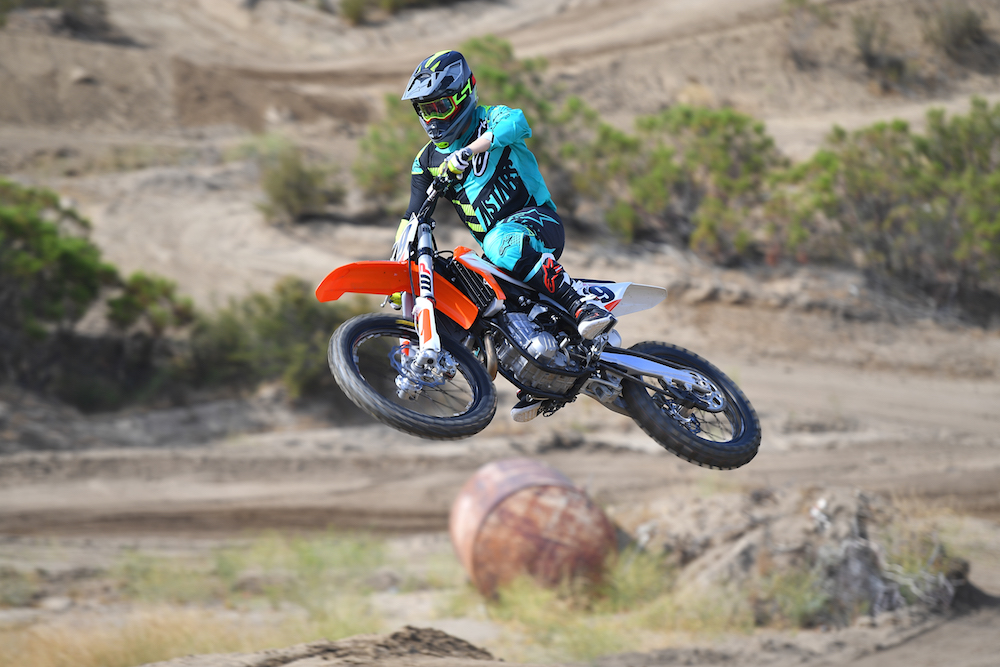 The 2019 KTM 450 SX-F is light and nimble.