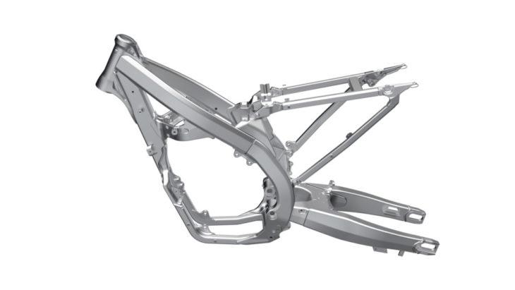 2019 Suzuki RM-Z250 frame.
