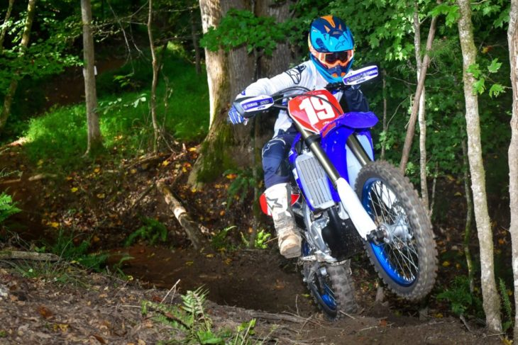 The YZ450FX is more comfortable on technical trails than before.