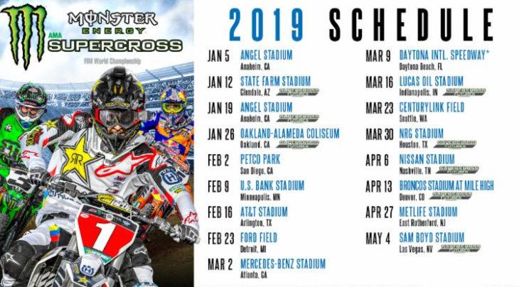 2019 Supercross schedule