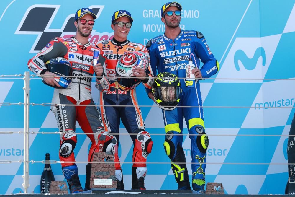 Dovizioaso, Marquez, Iannone, Aragon MotoGP 2018