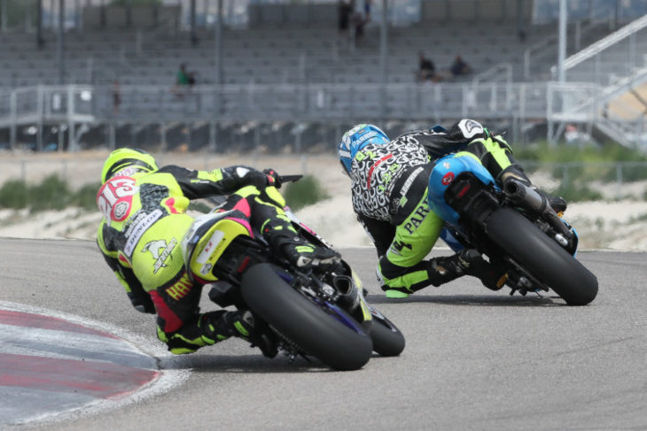 Chris Parrish leads Jason Madama by just two points heading into this weekend's MotoAmerica Twins Cup finale at Barber Motorsports Park.| Photo By Brian J. Nelson