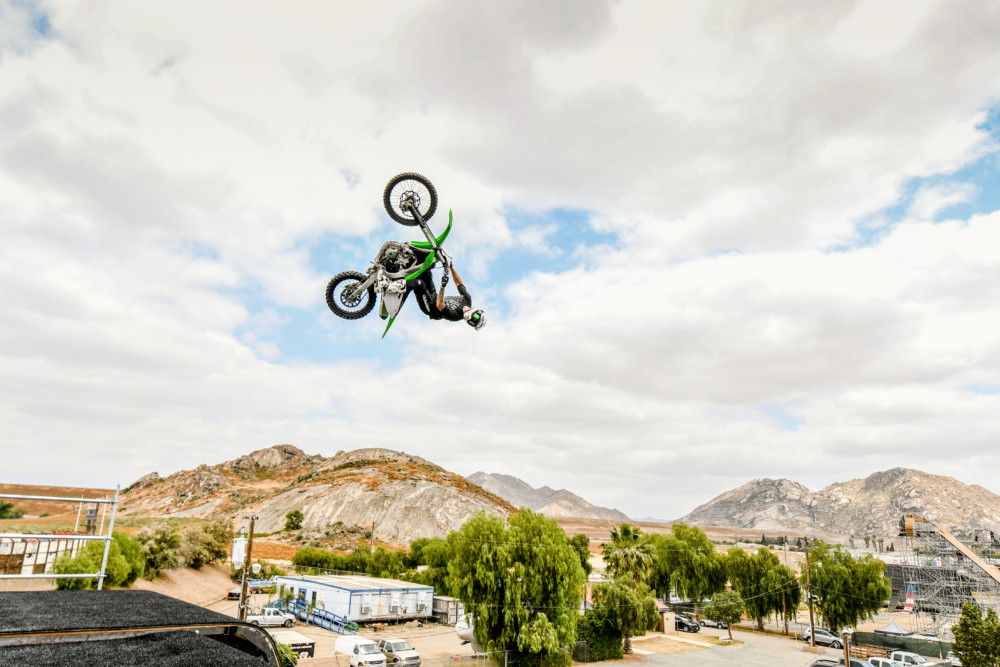 Colby Raha at the Nitro World Games qualifiers held in Lake Perris, California, May 15-18, 2017. Photo by Tyler Tate/T Squared Action Sports