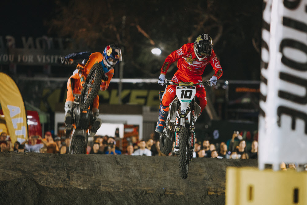 Colton Haaker (10) and Cody Webb (1) have each won a round so far to kick off the season. Who can take the momentum out of Reno? Photo: Tanner Yeager.