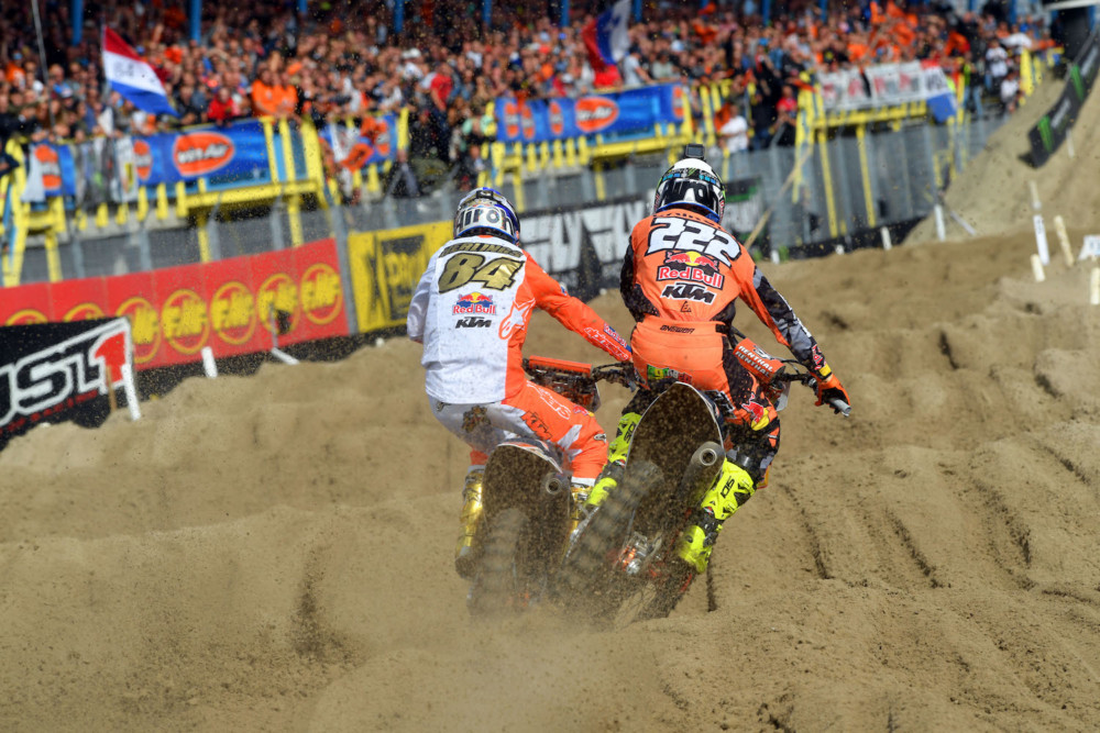 Jeffrey Herlings with Pirelli is elected 2018 FIM MXGP World Champion in the Grand Prix of The Netherlands at Assen. Antonio Cairoli was second in Assen.