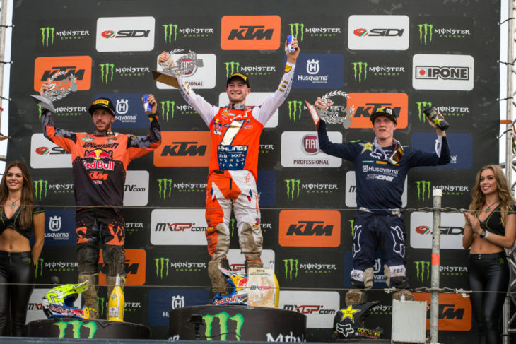 Jeffrey Herlings clinched the 2018 MXGP Championship