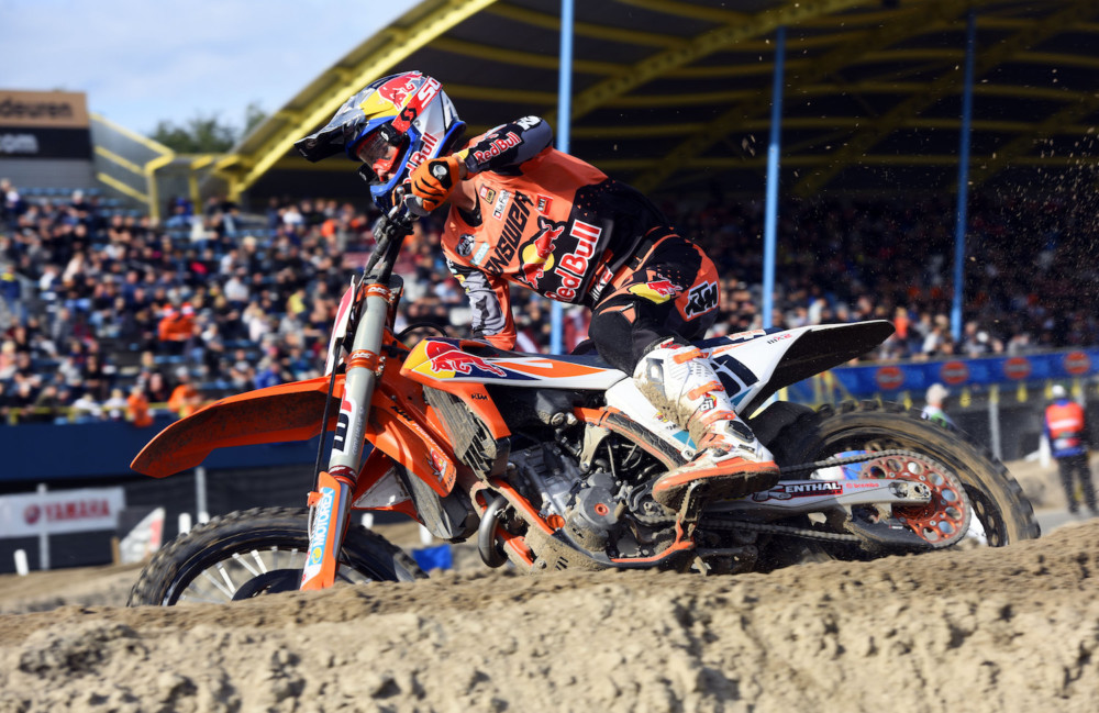 Jorge Prado wins both motos and stakes a claim for the MX2 title.