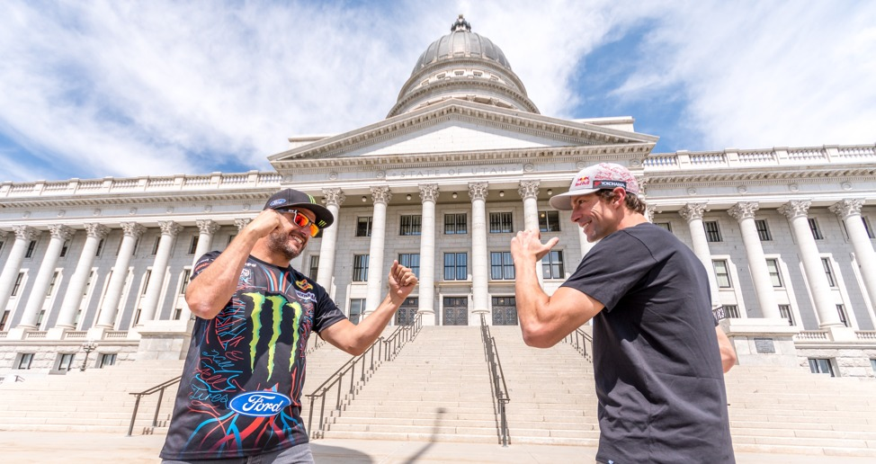 Travis Pastrana (right) and Ken Block have unfinished business to settle at the upcoming Nitro World Games.